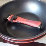 【レビュー】取っ手の取れるフライパンはIH&食洗機との相性が良い